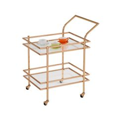 Found it at Wayfair - Gold Rolling Serving Cart