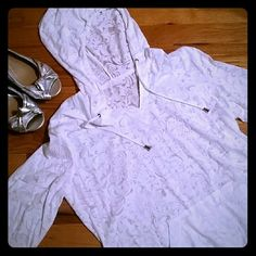 Sheer white pull over White see through pull over shirt, NWOT, Sz large. St. John's Bay Tops Blouses