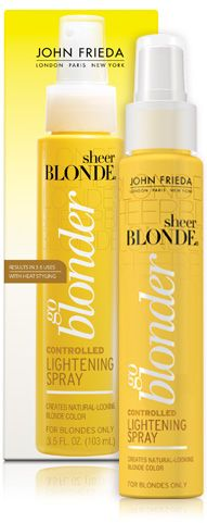 John Frieda Go Blonder Lightening Spray. I actually have been using this and it works. I have sprayed it on my roots which are naturally dark blonde and they are lightening. Only used it 4 times so far. At Home Hair Color, Cool Hair Color, John Frieda, How To Lighten Hair, Purple Shampoo, Summer Beauty, Shiny Hair, Beauty Supply, Sprays