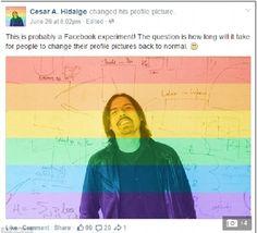 """CẦU VỒNG LỤC SẮC BỊ CHỈ TRÍCH LÀ CHIẾN LƯỢC CỦA FACEBOOK  >>> http://cleverstore.vn/tin-tuc/cau-vong-luc-sac-bi-chi-trich-la-chien-luoc-cua-facebook-7886/2.html Đã có 26 triệu người sử dụng ứng dụng """"Cầu vồng lục sắc"""" để thay đổi avatar trên Facebook nhằm hưởng ứng việc nước Mỹ công nhận hôn nhân đồng giới. Nhưng các chuyên gia chỉ trích rằng hành động này chỉ là một bài kiểm tra tâm lý người dùng của Facebook."""