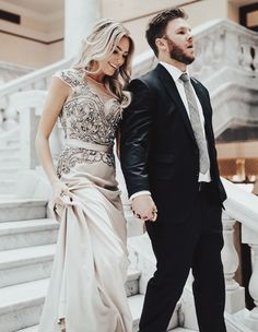 Happily Ever Allen. Chase Allen. Brit Allen. Couple goals. Fashion. Men's fashion. Women's fashion. Couples fashion. Street style. Casual style. Love. Inspiration. Cute couple. Blonde hair. Wavy hair. Makeup. Dress. Gown. Formal. New Years. Nye. Prom. Beautiful dress.