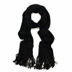 TrendsBlue Classic Soft Unisex Solid Color Warm Winter Fringe Scarf - Different Colors Available
