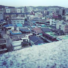 Rooftops in Cheongju, South Korea.