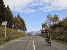 Made it - crossing the Col de Peyresourde (1569 m) - Tour de France