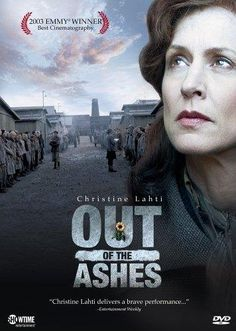 Out of the Ashes. Showtime movie. 2003 with Christine Lahti.  Based on a true story.  It is about a Jewish Hungarian doctor who survived a concentration camp.  She tries to become an American citizen, but they accuse her of collaborating the with the Nazis.  She has to explain the circumstances to 3 men, who will decide her fate.