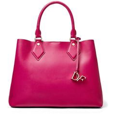 Diane von Furstenberg Voyage Medium Bonded Leather Carryall Tote (195 CHF) ❤ liked on Polyvore featuring bags, handbags, tote bags, azalea, totes, pink handbags, pocket tote, diane von furstenberg purses, diane von furstenberg tote bag and tote bag purse