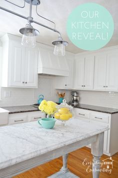 Our White Kitchen Reveal | Everyday Enchanting