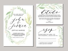 Printable and Customizable DIY Wedding by OliveBranchandCo on Etsy