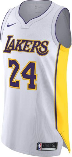 62b791cc559a Nike Kobe Bryant Icon Edition Authentic (Los Angeles Lakers) Men s NBA  Connected Jersey Size 40 (White)
