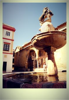 A Spanish fountain in Cordoba, Spain