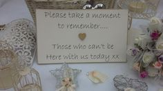 This plaque can be either supplied ready to hang or can be supplied to place on a table at your venue or reception. https://www.etsy.com/uk/listing/197519989/wedding-plaque-remembrance-of-those-not?ref=shop_home_active_7