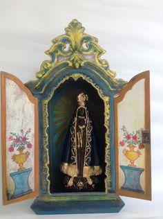 Oratório N.Sra Aparecida | Ateliê Santa Fé | Elo7