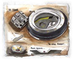 Sketchbook by Baptiste Mathieu, via Behance