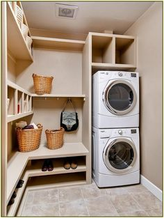 A small washing area designed to use little space