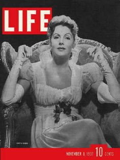 """Greta Garbo ~ November 8, 1937 issue ~ Old Life Magazines ~ Click image to purchase. Enter """"pinterest"""" at checkout for a 12% discount."""