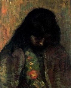 """""""Estudio, 1906"""". Óleo sobre lienzo. 61 x 50 cms. Colección Juán Avelló, Madrid. España."""