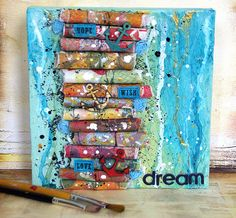 """Favorite Projects: WOW! This canvas is just beautiful and so inspiring to get creative past card or layout.  """"Dream"""" canvas by Saneli at @Studio_Calico"""