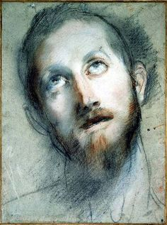 "Frederico Barocci ""Study for the Head of Christ"""