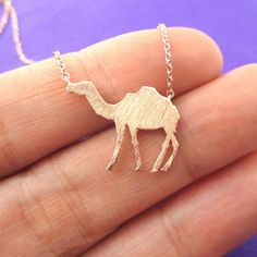 Camel Silhouette Shaped Pendant Necklace in Rose Gold $13.50 #camels #animals #jewelry #pendants #necklaces #cool