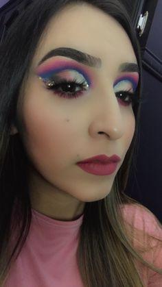 Suscribete a mi canal para mas maquillajes 💜💜💜💜💜💜 Septum Ring, Halloween Face Makeup, Videos, Dramatic Makeup, Colorful Makeup, Makeup Tutorials, Video Clip