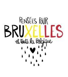 dessin en hommage aux victimes et à la capitale belge