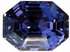 Faceted Violet Sapphire of Ceylon Origin
