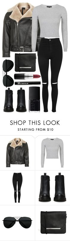 """""""Untitled #895"""" by clary94 ❤ liked on Polyvore featuring Topshop, Dr. Martens, Monki, Wet n Wild and NARS Cosmetics"""