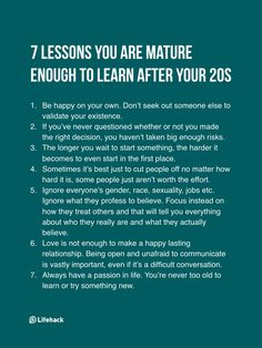 7 Lessons You Are Mature Enough To Learn After Your 20s