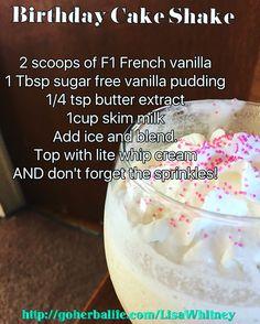 Birthday Cake Shake Herbalife Recipes Protein Shakes Herbal Life