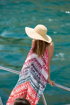 6 Shore Road Coverup + J.Crew summer floppy hat | Gal Meets Glam