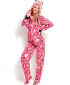 Paul Frank Sparkle Ice Hooded Footed Pajamas - Yes please!!