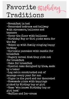 Favorite Birthday Traditions and Crepes - Nesting With Grace Birthday Party Ideas and TOP birthday tradition ideas! Traditions To Start, Holiday Traditions, Family Traditions, Birthday Fun, Birthday Celebration, Birthday Ideas, First Birthday Traditions, Birthday Morning Surprise, Turtle Birthday