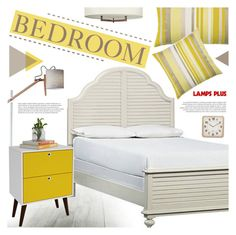 """""""Bedroom"""" by pokadoll ❤ liked on Polyvore featuring interior, interiors, interior design, home, home decor, interior decorating, Elaine Smith, Hinkley Lighting and bedroom"""