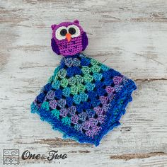 Owl Lovey Security Blanket crochet pattern by One and Two Company
