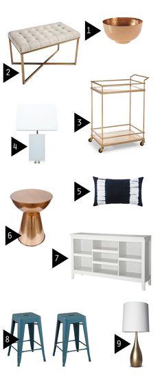 Favorite sources for affordable home decor: Target