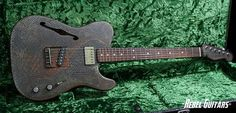 James Trussart Guitars Rust-O-Matic Snakeskin Deluxe Steelcaster