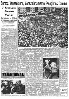 Discurso de Rómulo Betancourt en El Silencio. Publicado el 02 de Noviembre de 1960.