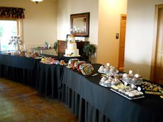 At Tapestry House Sometimes We Have S Who Want A Dessert Only Reception Like This Did They Had Table Covered In Delicious Sweets Of Every