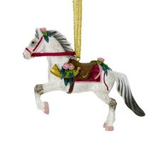 Trail of Painted Ponies from Enesco Victorian Christmas Tin Gift Box Christmas 3.2 IN by Enesco