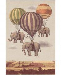 Flight of the Elephants-Tapete