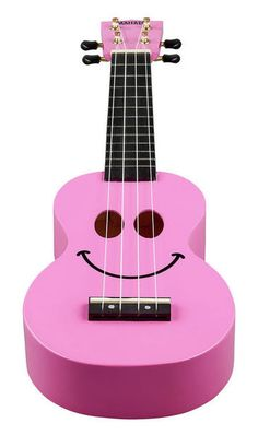 Mahalo Smiley Ukulele Pink - Thomann www.thomann.de   #ukulele #pink #sweet #instrument #happy #smile #fun