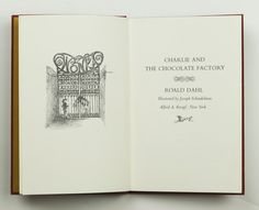 Charlie and the Chocolate Factory (Concerning the Adventures of Four Nasty Children and Our Hero with Mr Willy Wonka and his Famous Candy Plant) by Roald Dahl, first edition, published in 1964, illustrated by Joseph Schindelman