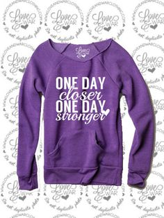 One day closer one day stronger slouch sweater #loveandwarclothing #milso
