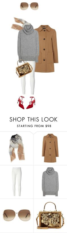 """""""Untitled #1817"""" by misnik ❤ liked on Polyvore featuring Nordstrom, Gloverall, Rick Owens Lilies, The Row, Victoria Beckham, Dolce&Gabbana and Jean-Michel Cazabat"""