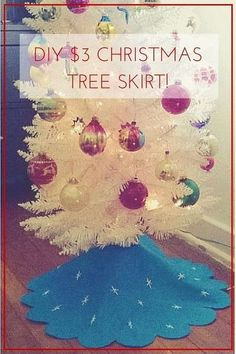 You don't need to spend a lot of money to have a pretty Christmas tree skirt
