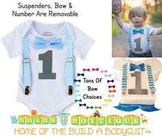 First Birthday Outfit Boy  1st Birthday Clothes  by NoahsBoytiques