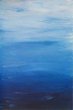 Effervescent Blue abstract painting