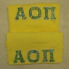 Alpha Omicron Pi AOII Lettered Game Day Tote Crimson