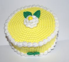 AMIGURUMIS AND CROCHET: CAKE  de limón