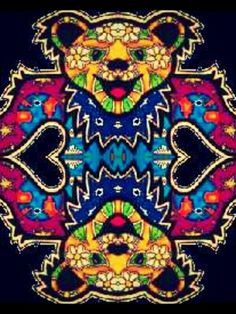 Symmetry Bear Grateful Dead Image, Grateful Dead Dancing Bears, Hippie Peace, Hippie Art, Dead And Company, Queen Of Spades, Electronic Music, Trippy, Cool Bands